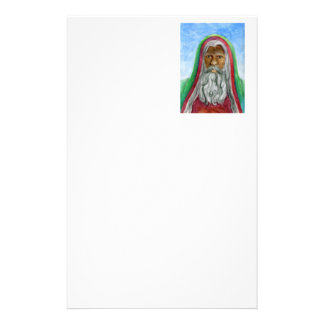 African American Old World Santa Stationery