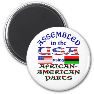 African American Parts 2 Inch Round Magnet