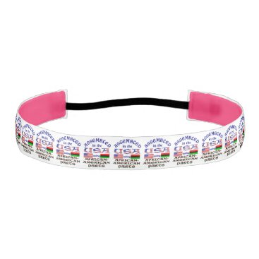USA Themed African-American Parts Athletic Headband