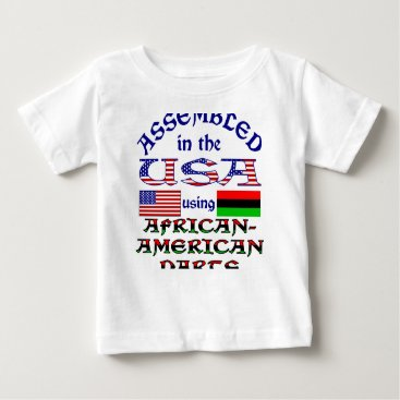 USA Themed African-American Parts Baby T-Shirt