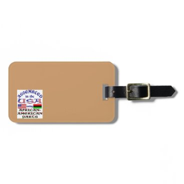 USA Themed African-American Parts Bag Tag