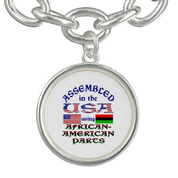 USA Themed African-American Parts Charm Bracelet