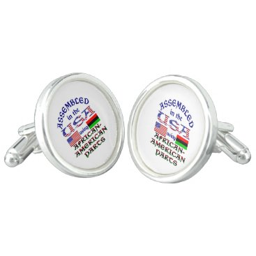 USA Themed African-American Parts Cufflinks