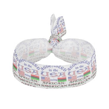 USA Themed African-American Parts Hair Tie