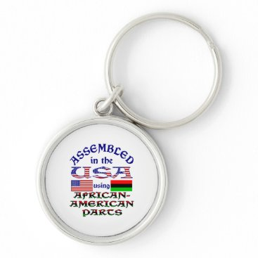 USA Themed African-American Parts Keychain