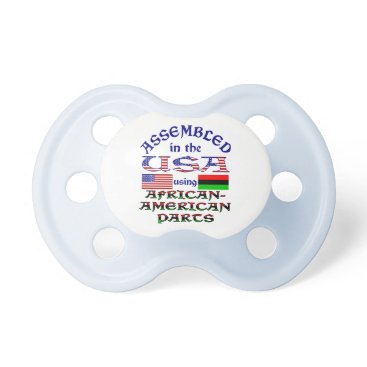 USA Themed African-American Parts Pacifier