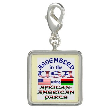 USA Themed African-American Parts Photo Charms