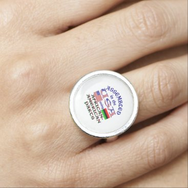 USA Themed African-American Parts Photo Rings