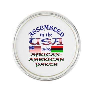 USA Themed African-American Parts Pin