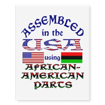 African-American Parts Temporary Tattoos