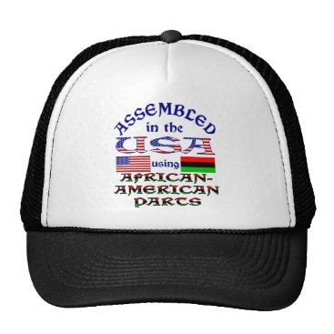 USA Themed African-American Parts Trucker Hat