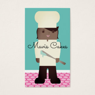 African American pastry chef business card