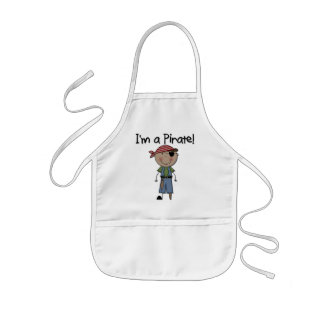 African American Pirate Boy T shirts and Gifts Kids' Apron