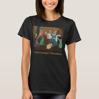 African American Praying Grandmother Church Art T-Shirt
