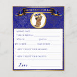 """African American Prince Advice Predictions Blue<br><div class=""""desc"""">Sweet Prince in royal blue &amp; gold with a crown. One side is Predictions for baby and the other side is Advice for the parent-to-be. Two baby shower games on one sheet! See the Royal Prince Collection for other matching items.</div>"""