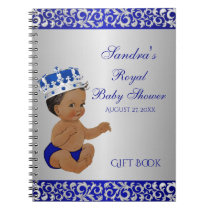 African American Prince Blue Silver Gift Guest Notebook