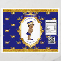 African American Prince Royal Blue Gold Chip Bag