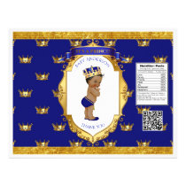African American Prince Royal Blue Gold Chip Bag Flyer