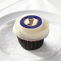 African American Prince Royal Blue Gold Edible Frosting Rounds