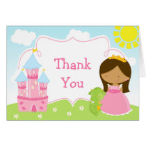 African American Princess and Dragon Thank You Card