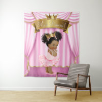 African American Princess Baby Shower Backdrops