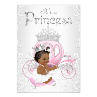 African American Princess Baby Shower Card