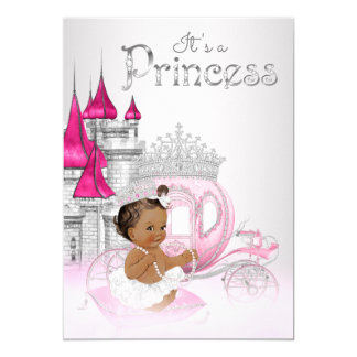 pink silver princess baby shower invitations & announcements | zazzle, Baby shower invitations