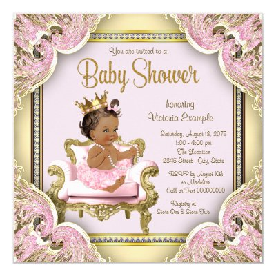 african american princess baby shower decorations