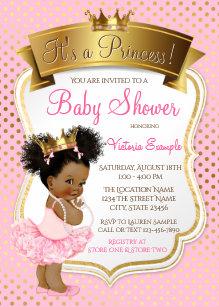 Princess baby shower invitations zazzle african american princess baby shower invitations filmwisefo