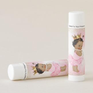 African American Princess Baby Shower Lip Balm