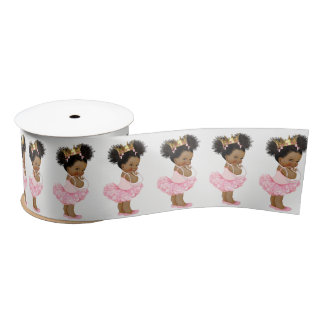 African American Princess Baby Shower Ribbon