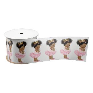 African American Princess Baby Shower Ribbon