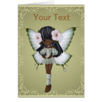 African American Princess Butterfly Greeting Card