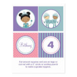 African American Princess Cupcake Toppers Post Card