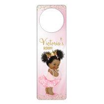 African American Princess Door Hanger