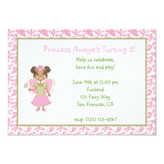 African American Princess Fairy Invitation