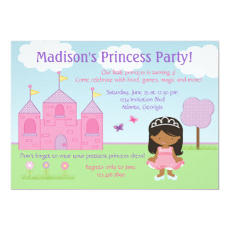 African American Princess Party Invitation