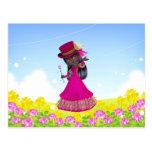 African American Princess Postcard