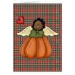 african american pumpkin angel card