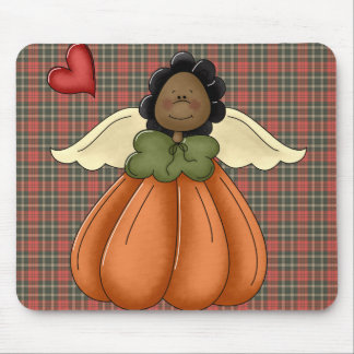 african american pumpkin angel mouse pad