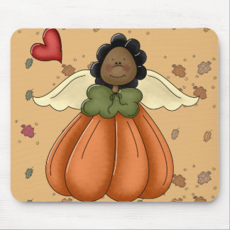 african american pumpkin angel mousepad