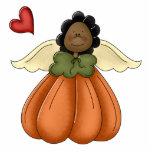 african american pumpkin angel photo sculptures