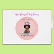 African American Queen - Big Sister Card