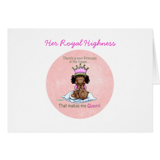 African American Queen - Big Sister Greeting Card