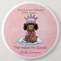 African American Queen - Big Sister Pinback Button