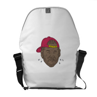 African-American Rapper Crying Drawing Messenger Bag