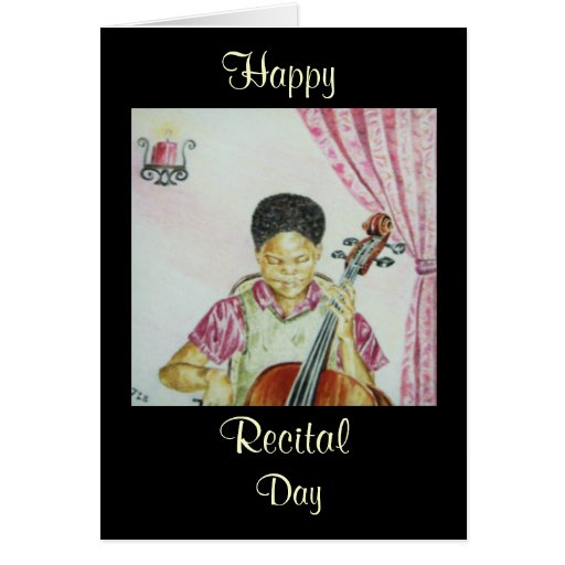 African American Recital Day Greeting Card