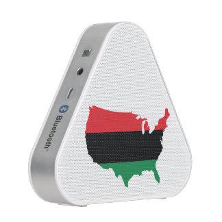 African American _ Red, Black & Green Colors Bluetooth Speaker