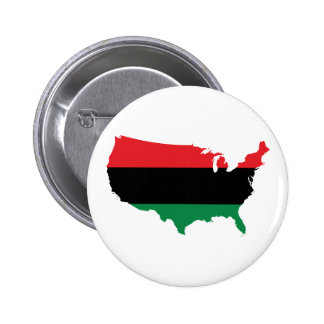 African American _ Red, Black & Green Colors Button