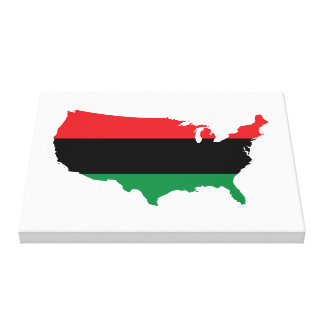 African American _ Red, Black & Green Colors Canvas Print
